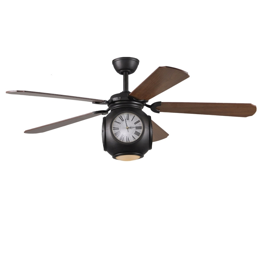Shop Harbor Breeze Rock Hall 52 In Aged Bronze Downrod Mount Indoor For Outdoor Ceiling Fans With Light At Lowes (#12 of 15)
