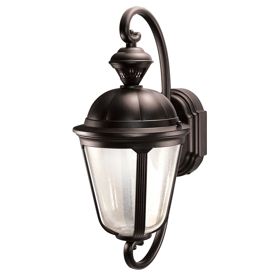Shop Heath Zenith Corinthian 19 In H Oil Rubbed Bronze Motion Regarding Heath Zenith Outdoor Wall Lighting (#15 of 15)