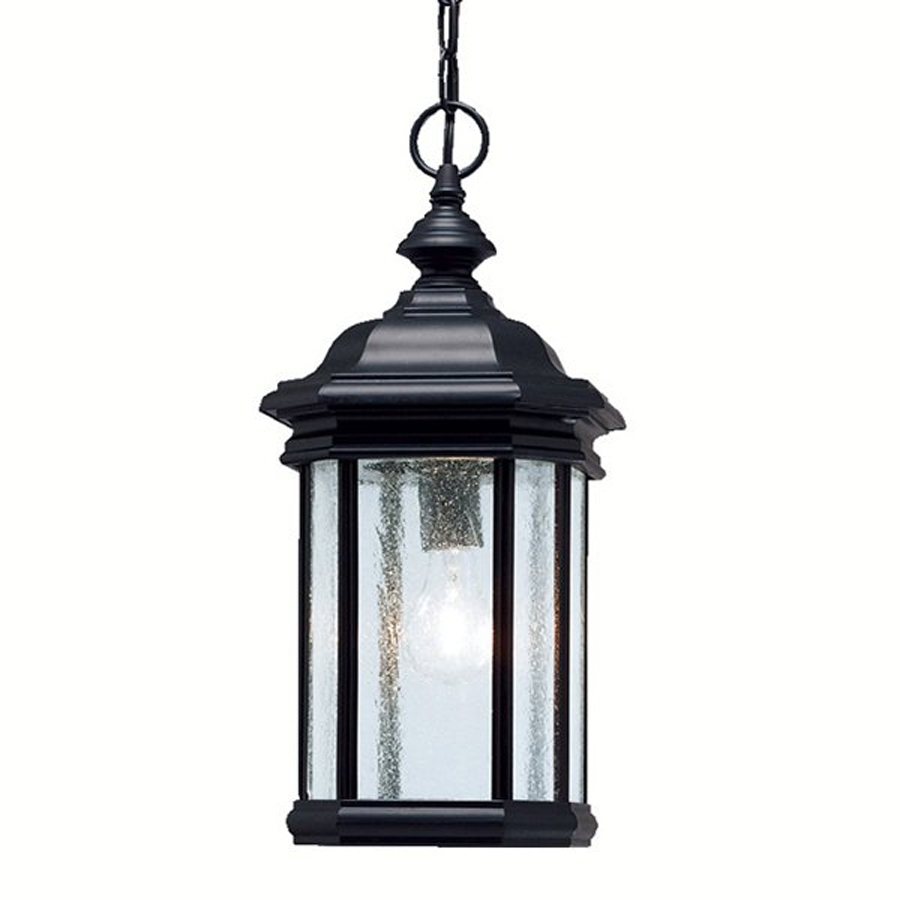 Shop Kichler Kirkwood 18 In Black Outdoor Pendant Light At Lowes Pertaining To Outdoor Hanging Lanterns At Lowes (#10 of 15)