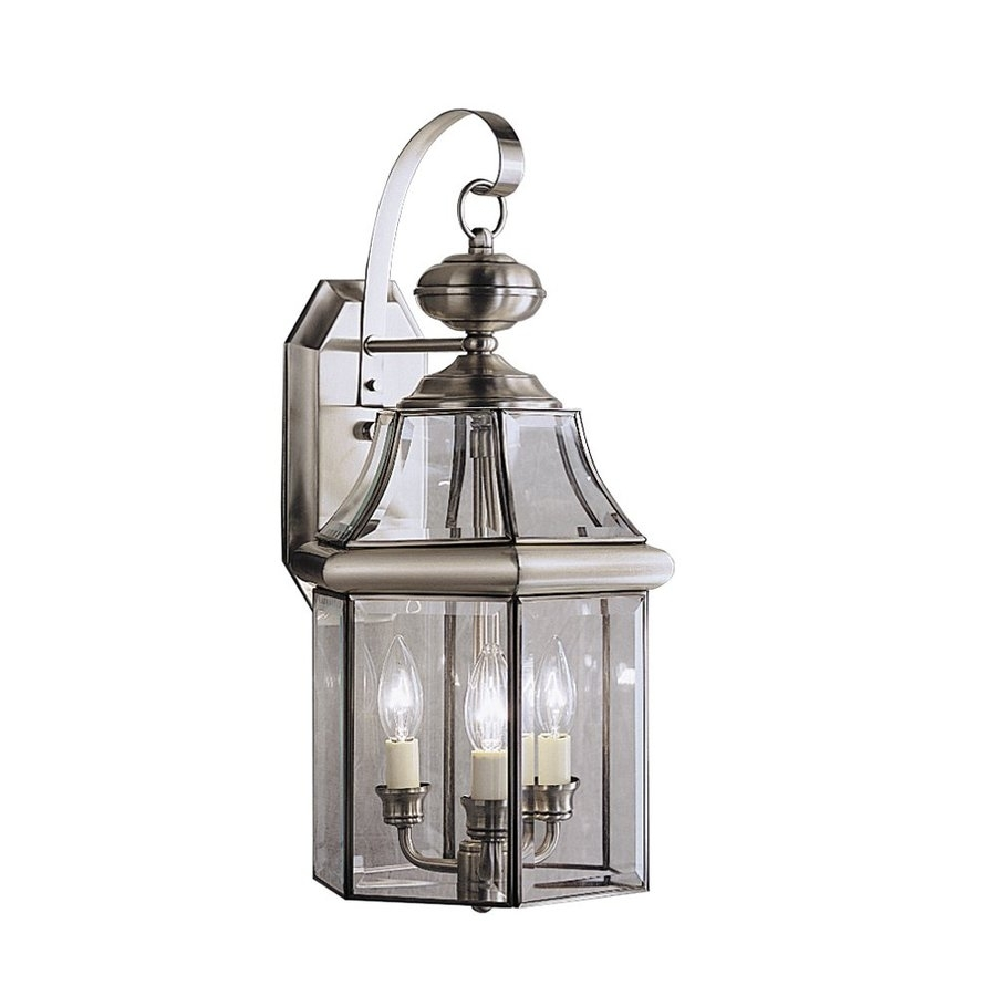 Shop Kichler Lighting Embassy Row 21 In H Antique Pewter Outdoor For Pewter Outdoor Wall Lights (#8 of 15)