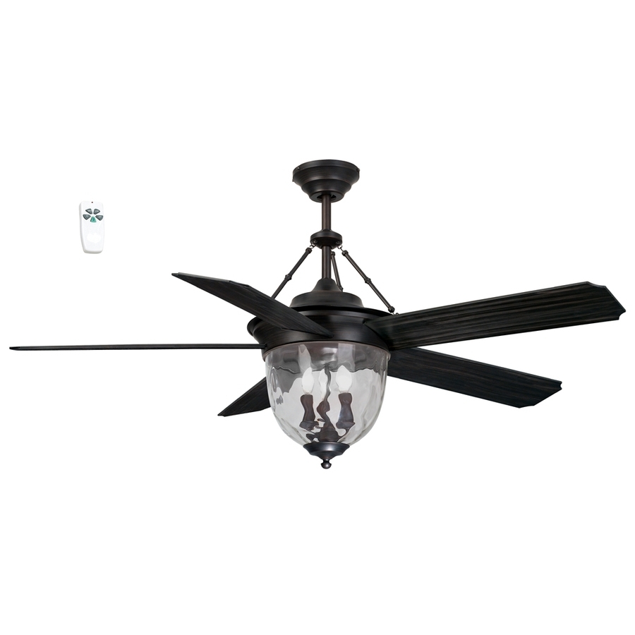 Shop Litex 52 In Antique Bronze Indoor/outdoor Downrod Mount Ceiling In Bronze Outdoor Ceiling Fans With Light (#14 of 15)