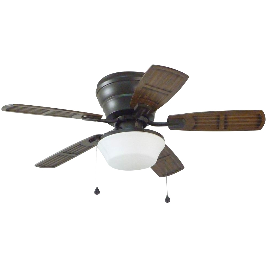 Shop Litex Mooreland 44 In Bronze Indoor/outdoor Flush Mount Ceiling Throughout Outdoor Ceiling Fans With Flush Mount Lights (#14 of 15)
