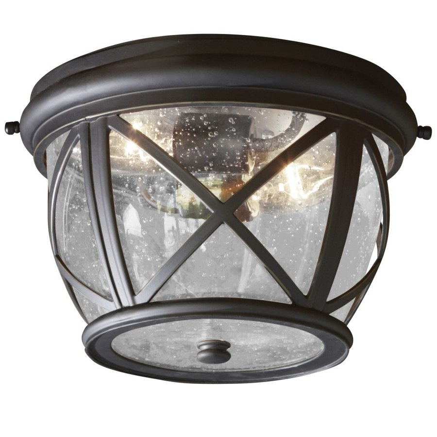 Shop Outdoor Flush Mount Lights At Lowes For Outdoor Motion Sensor Ceiling Mount Lights (View 1 of 15)