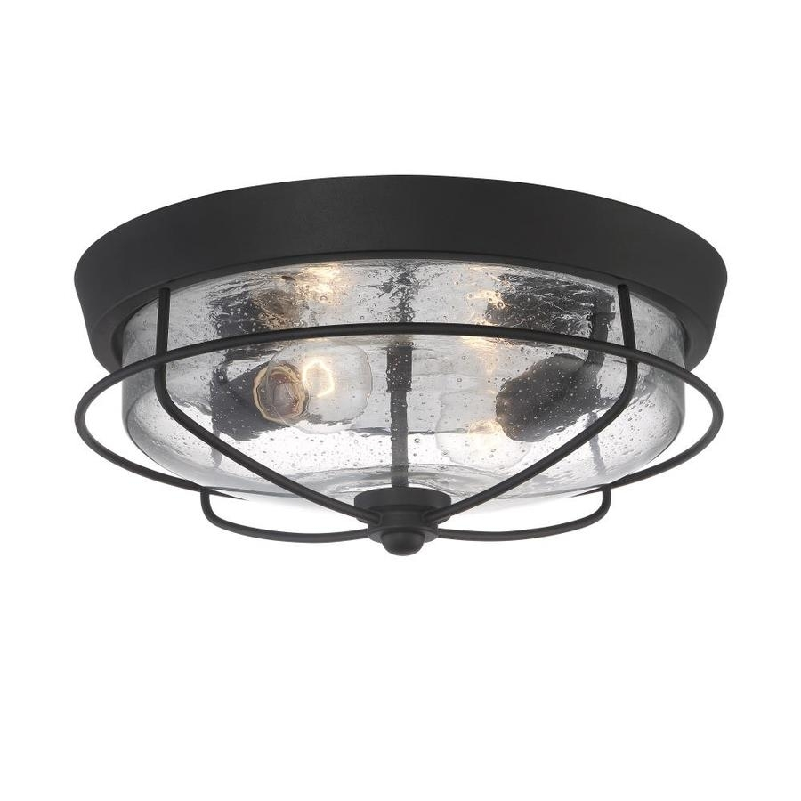 Shop Outdoor Flush Mount Lights At Lowes In Black Outdoor Ceiling Lights (#15 of 15)