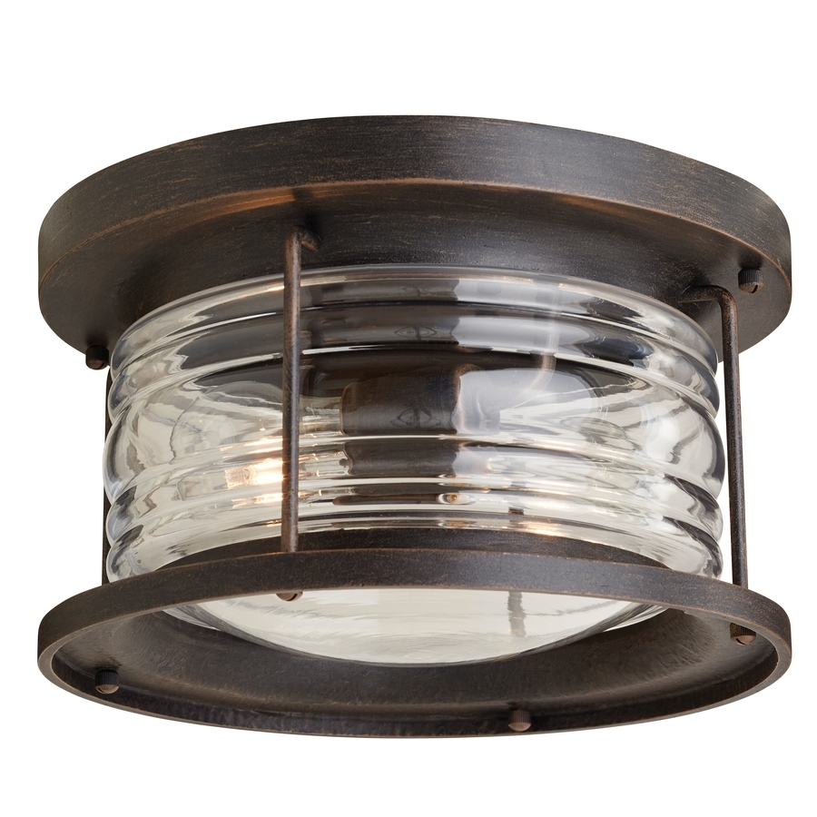 Shop Outdoor Flush Mount Lights At Lowes In Outdoor Ceiling Mounted Security Lights (#14 of 15)