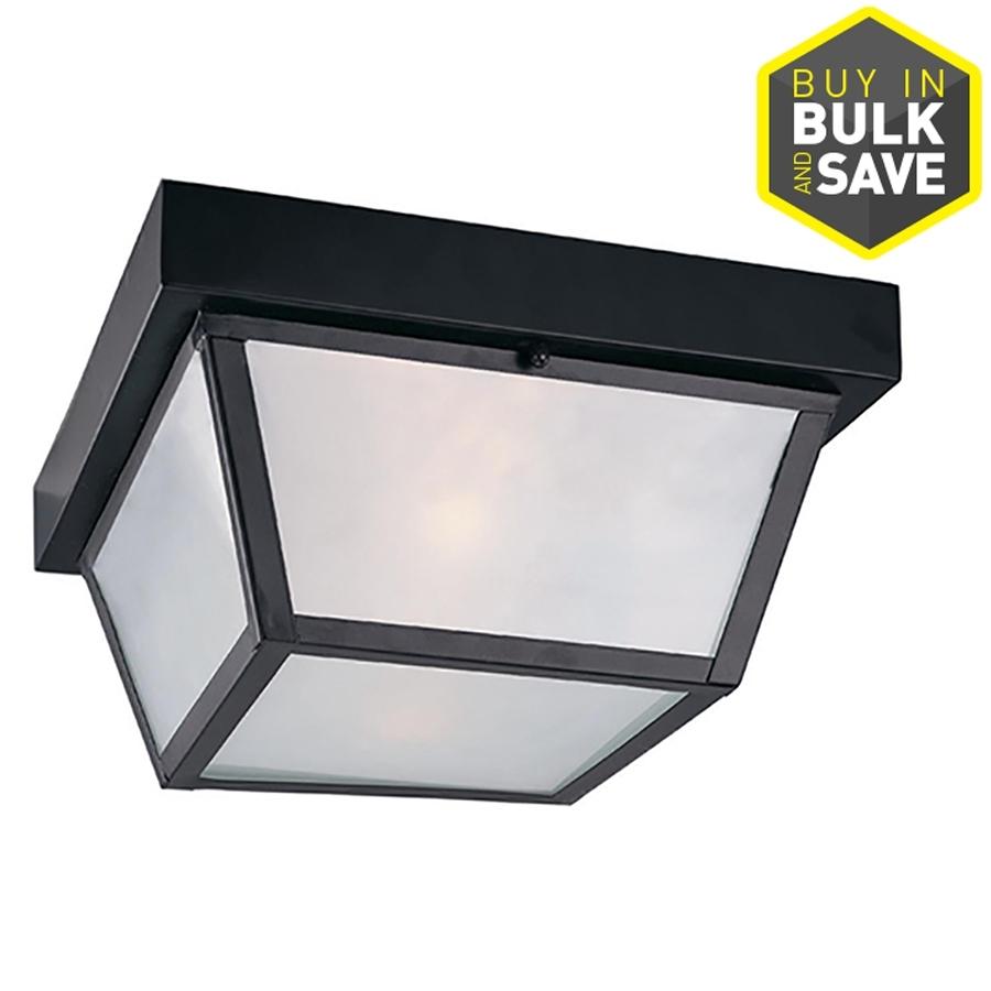 Shop Outdoor Flush Mount Lights At Lowes Pertaining To Outdoor Ceiling Flush Mount Lights (View 10 of 15)