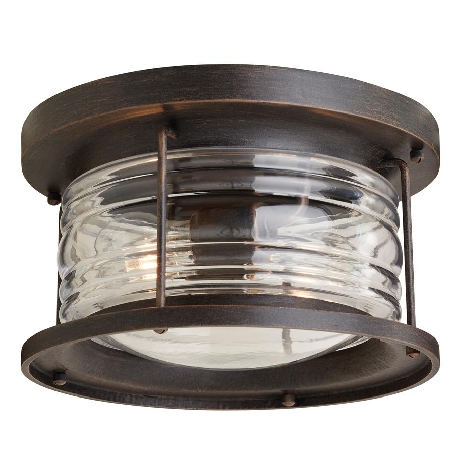 Shop Outdoor Flush Mount Lights At Lowes Throughout Outdoor Ceiling Flush Mount Lights (View 2 of 15)