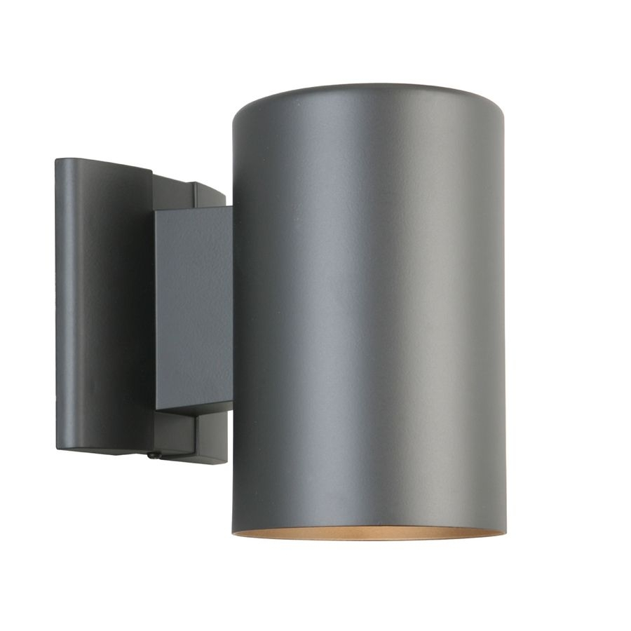 Shop Portfolio 7 In H Matte Black Dark Sky Outdoor Wall Light At Intended For Outdoor Wall Garage Lights (#13 of 15)