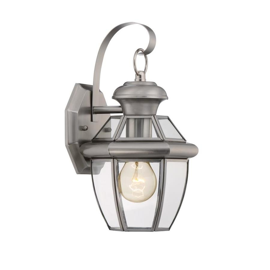 Shop Portfolio Brayden 12 In H Pewter Outdoor Wall Light At Lowes Within Pewter Outdoor Wall Lights (#11 of 15)