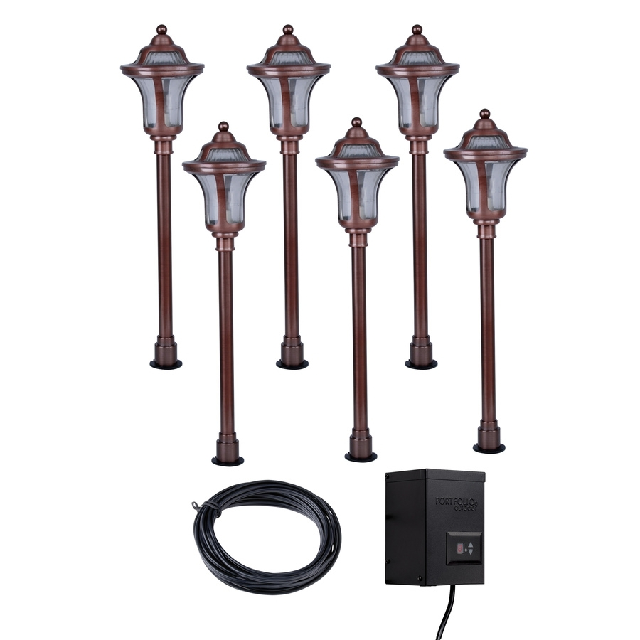 Shop Portfolio Copper Path Light Kit At Lowes Within Lowes Outdoor Landscape Lighting (#14 of 15)