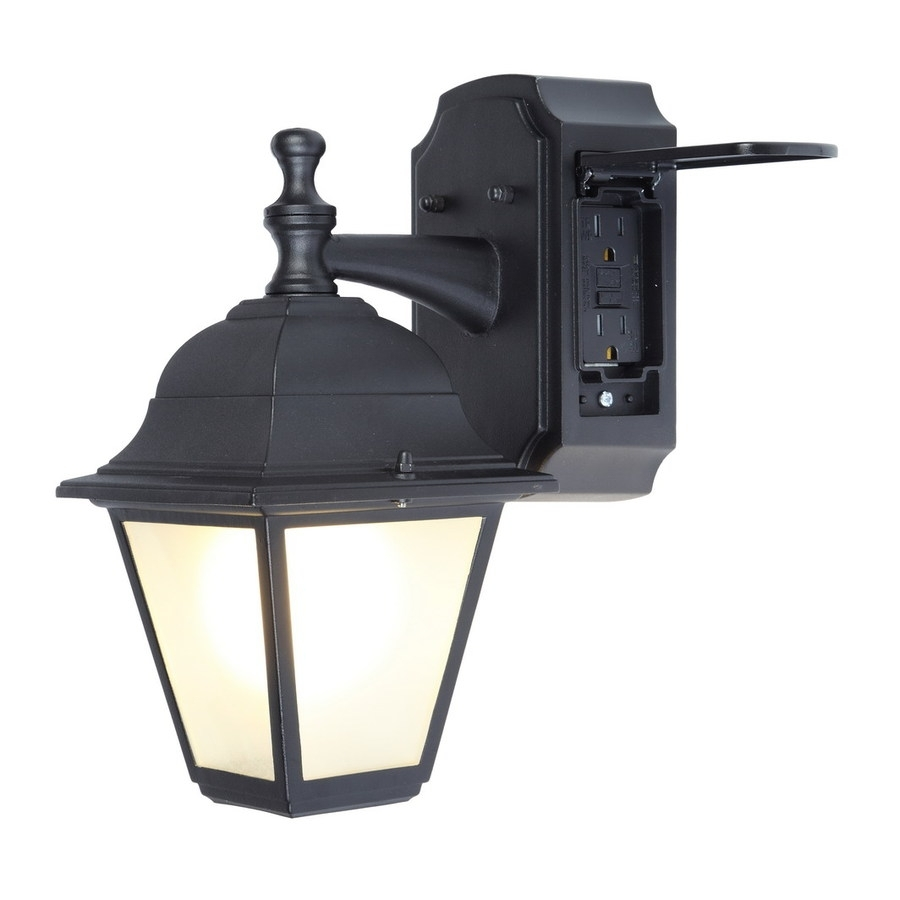 Wall Light Fixture With Outlet: 15 Inspirations Of Outdoor Wall Lighting With Outlet