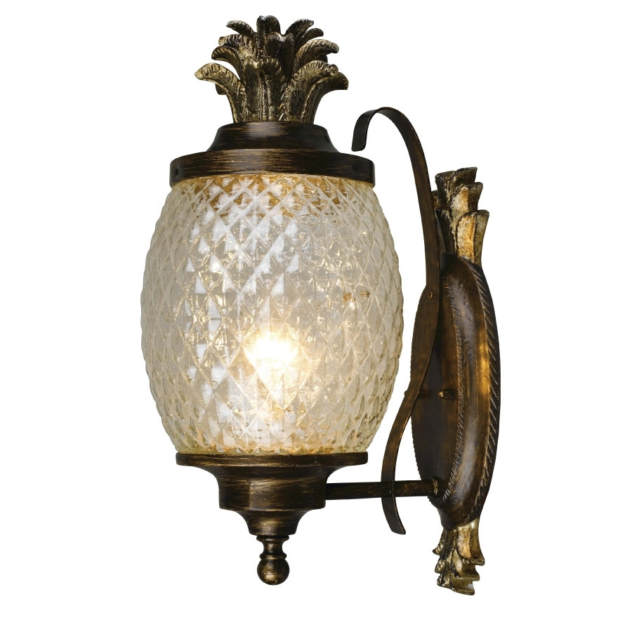 Shop Portfolio Outdoor Wall Light At Lowes Within Pineapple Outdoor Wall Lights (#15 of 15)