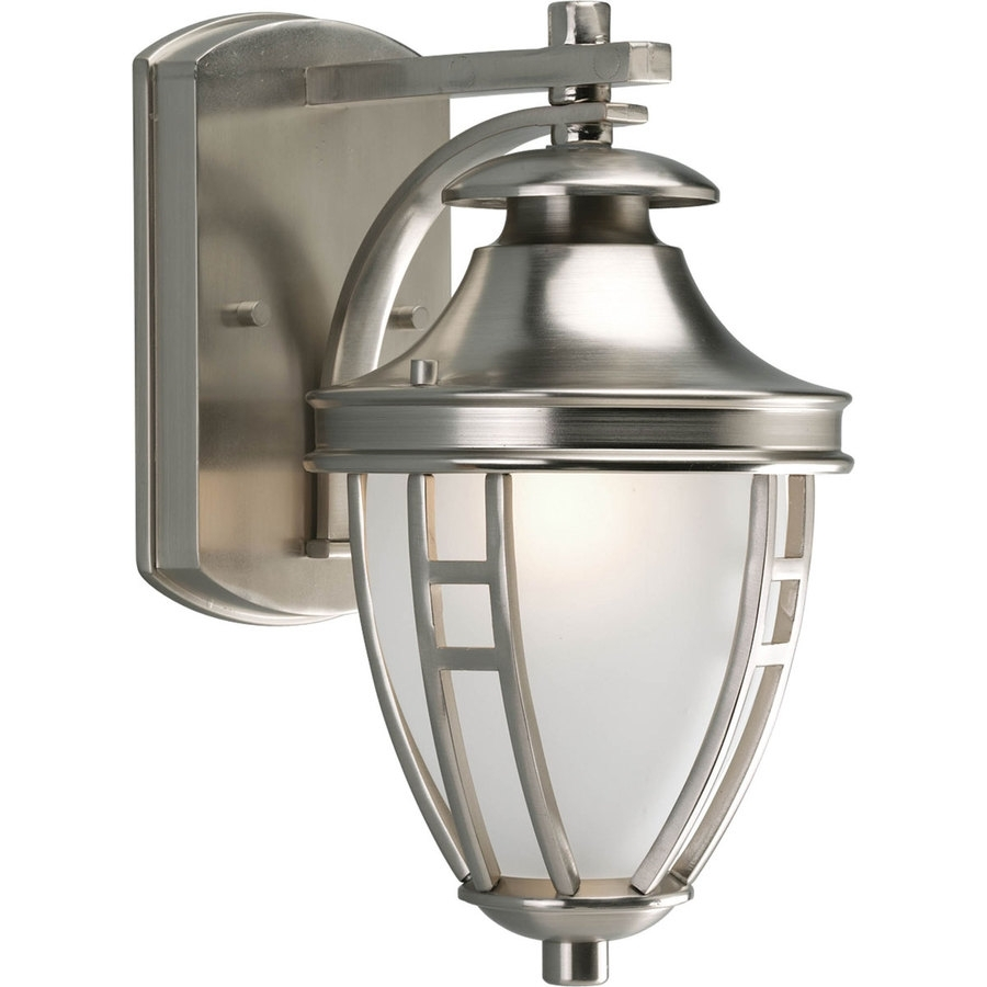 15 Collection Of Brushed Nickel Outdoor Wall Lighting