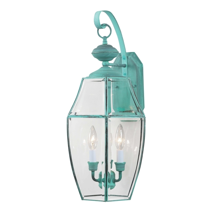 Shop Volume International 24 In H Verde Green Outdoor Wall Light At Pertaining To Green Outdoor Wall Lights (#14 of 15)
