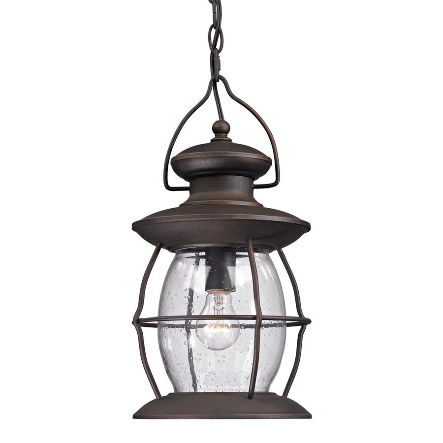 Shop Westmore Lighting Sutter's Mill 17 In Weathered Charcoal Within Outdoor Hanging Lights At Lowes (#15 of 15)