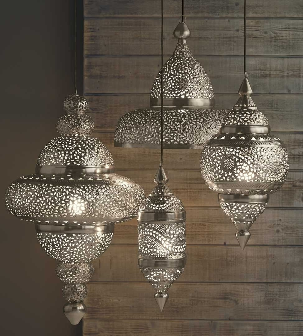 Silver Moroccan Hanging Lamp – Www (View 13 of 15)