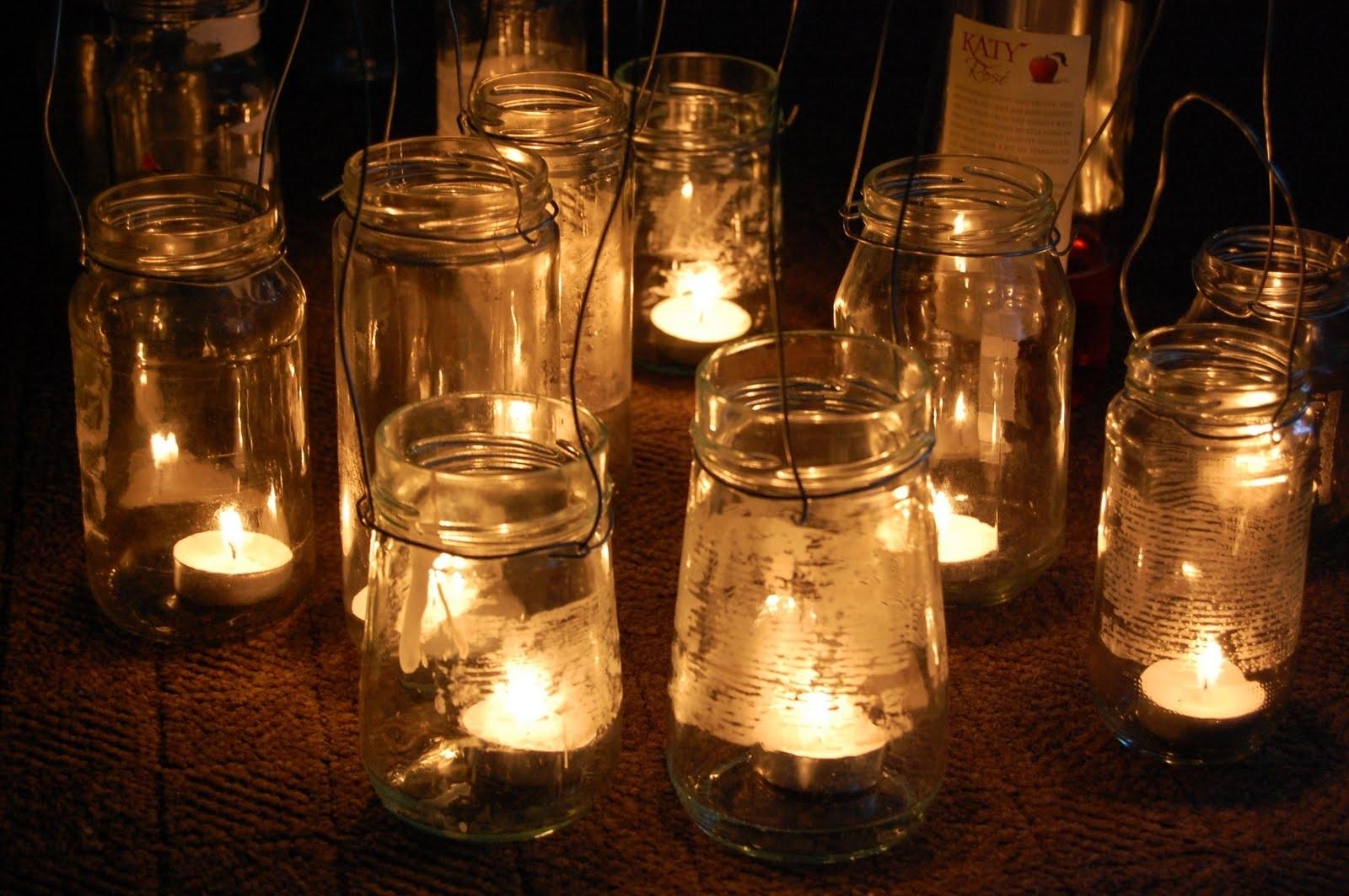 Simple Diy Rustic Hanging Mason Jar Candle Holder Lanterns For Intended For Outdoor Hanging Mason Jar Lights (#14 of 15)