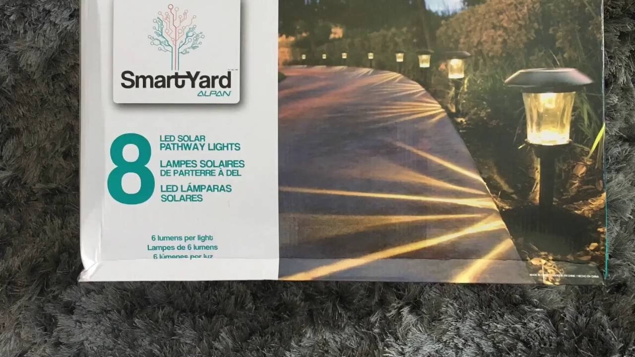 Smartyard Solar Led Large Pathway Lights From Costco – Youtube For Outdoor Hanging Lights At Costco (#13 of 15)