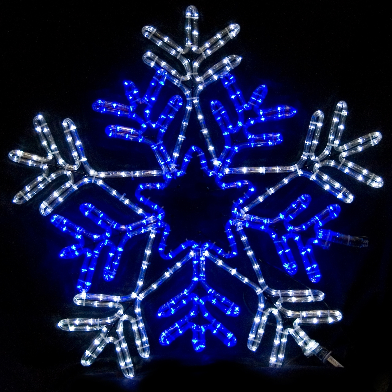 """Snowflakes & Stars – 26"""" Snowflake With Blue Center Inside Outdoor Hanging Snowflake Lights (View 9 of 15)"""