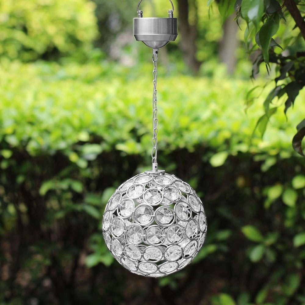 Solar Hanging Crystal Ball Light – Colour Changing | Best Solar Inside Outdoor Hanging Garden Lights (View 4 of 15)