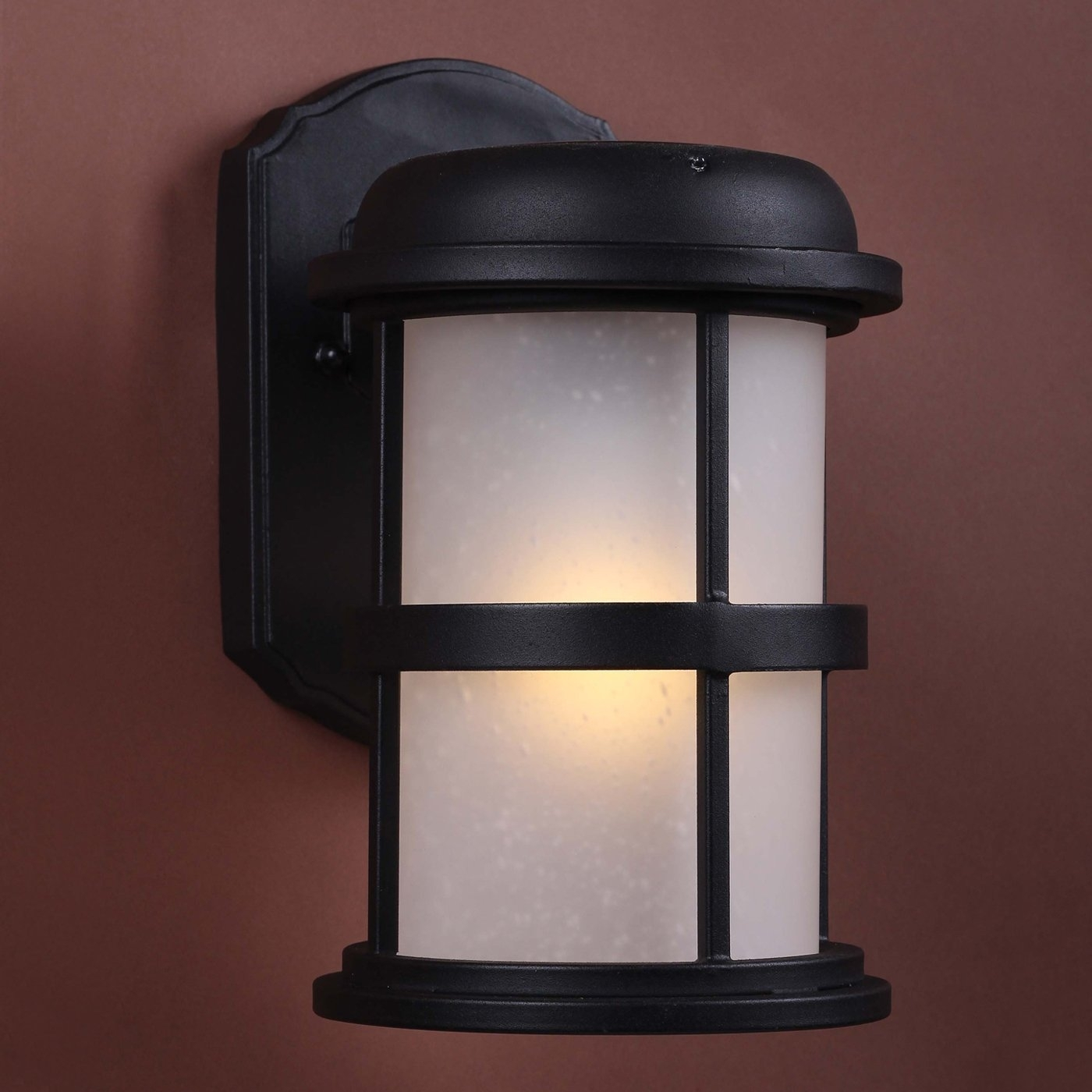 Solar Hybrid Led Outdoor Sconce, Black, | Fire Tower : Exterior With Regard To Solar Led Outdoor Wall Lighting (#12 of 15)