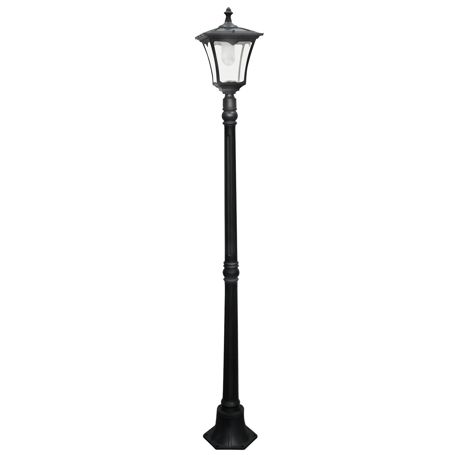 "Solar Led Powered 1 Light 80"" Post Lantern Set Wayfair, Outdoor Post With Regard To Wayfair Led Post Lights (#12 of 15)"
