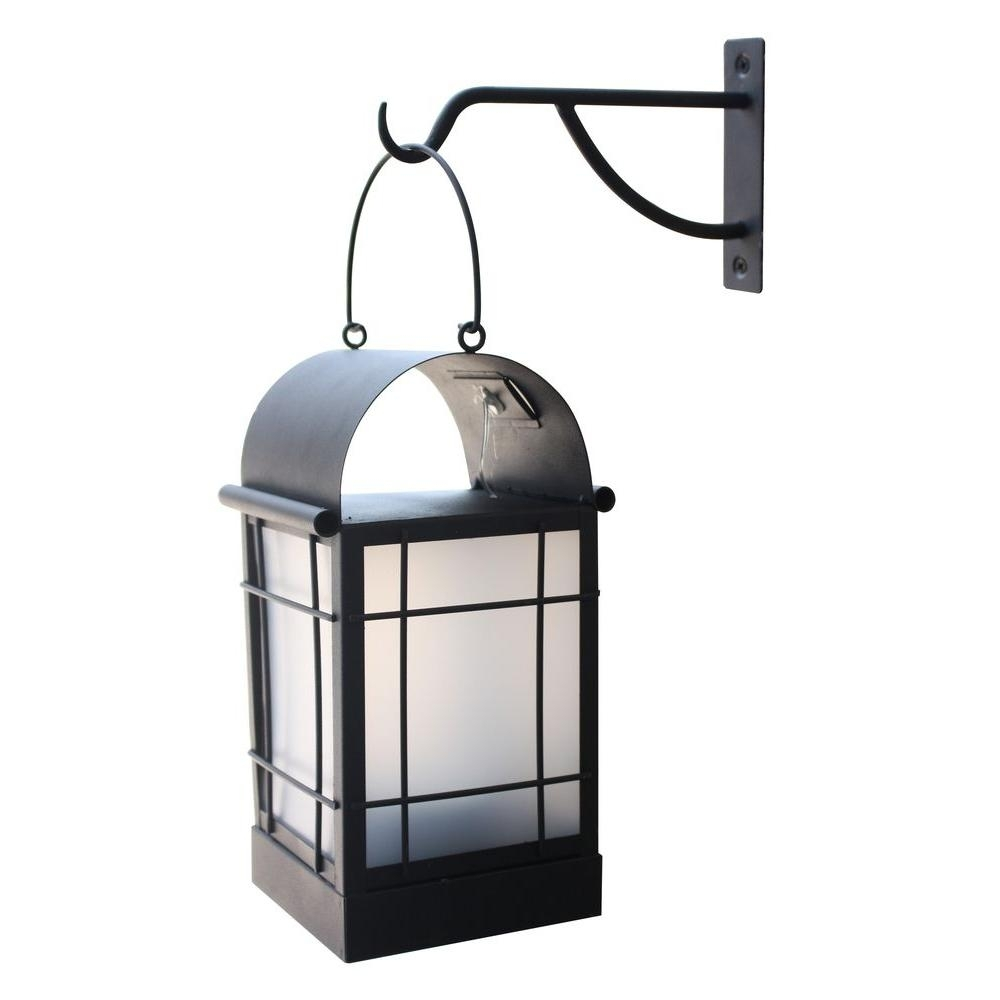 Solar – Outdoor Lanterns – Outdoor Lighting – Lighting – The Home Depot Throughout Solar Powered Outdoor Hanging Lanterns (#12 of 15)