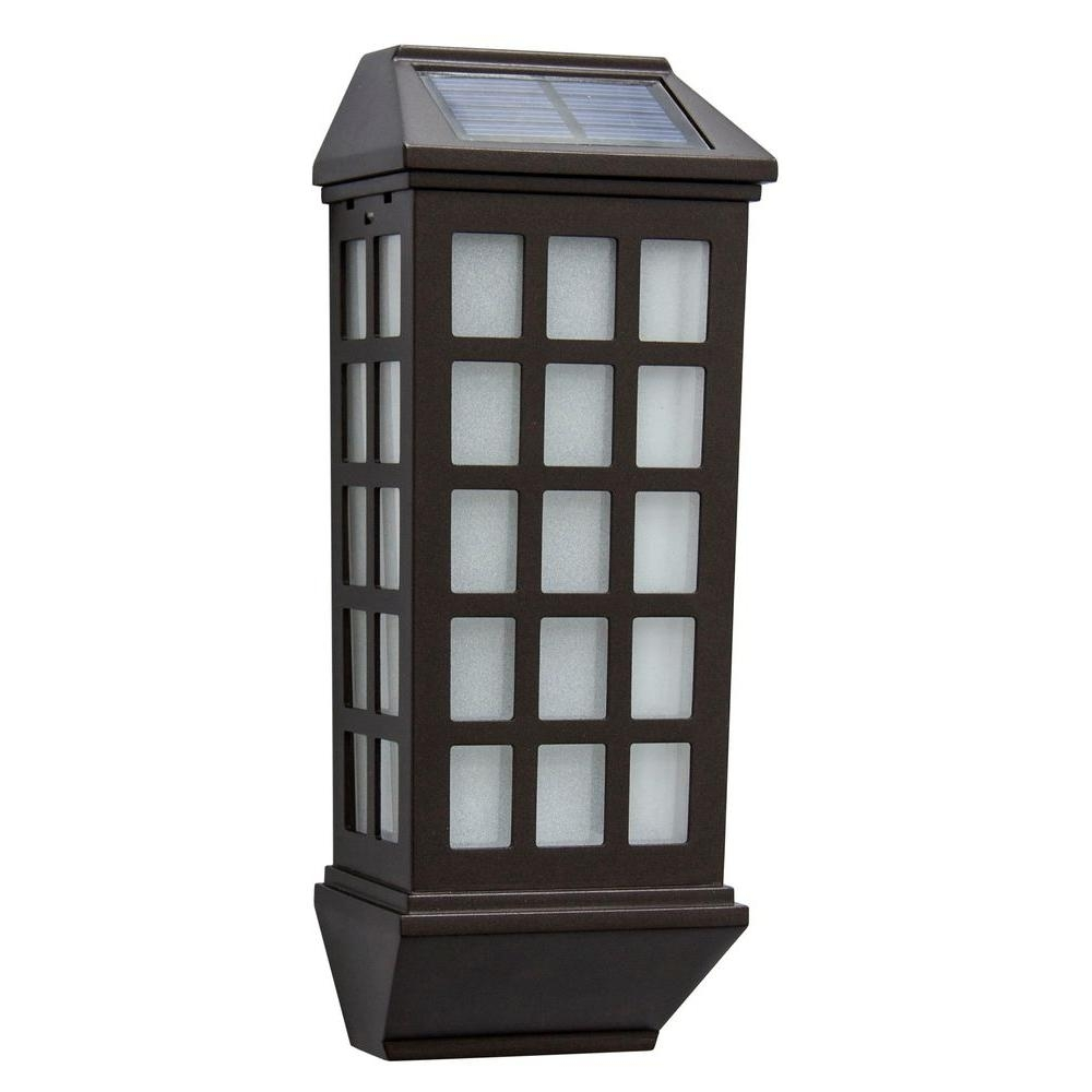 Solar – Outdoor Wall Mounted Lighting – Outdoor Lighting – The Home With Regard To Contemporary Solar Driveway Lights At Home Depot (#9 of 15)
