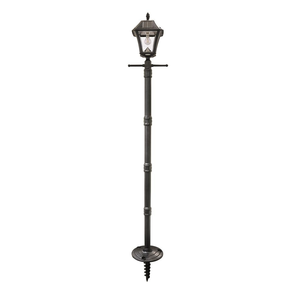 Solar – Post Lighting – Outdoor Lighting – The Home Depot With Contemporary Solar Driveway Lights At Home Depot (#10 of 15)