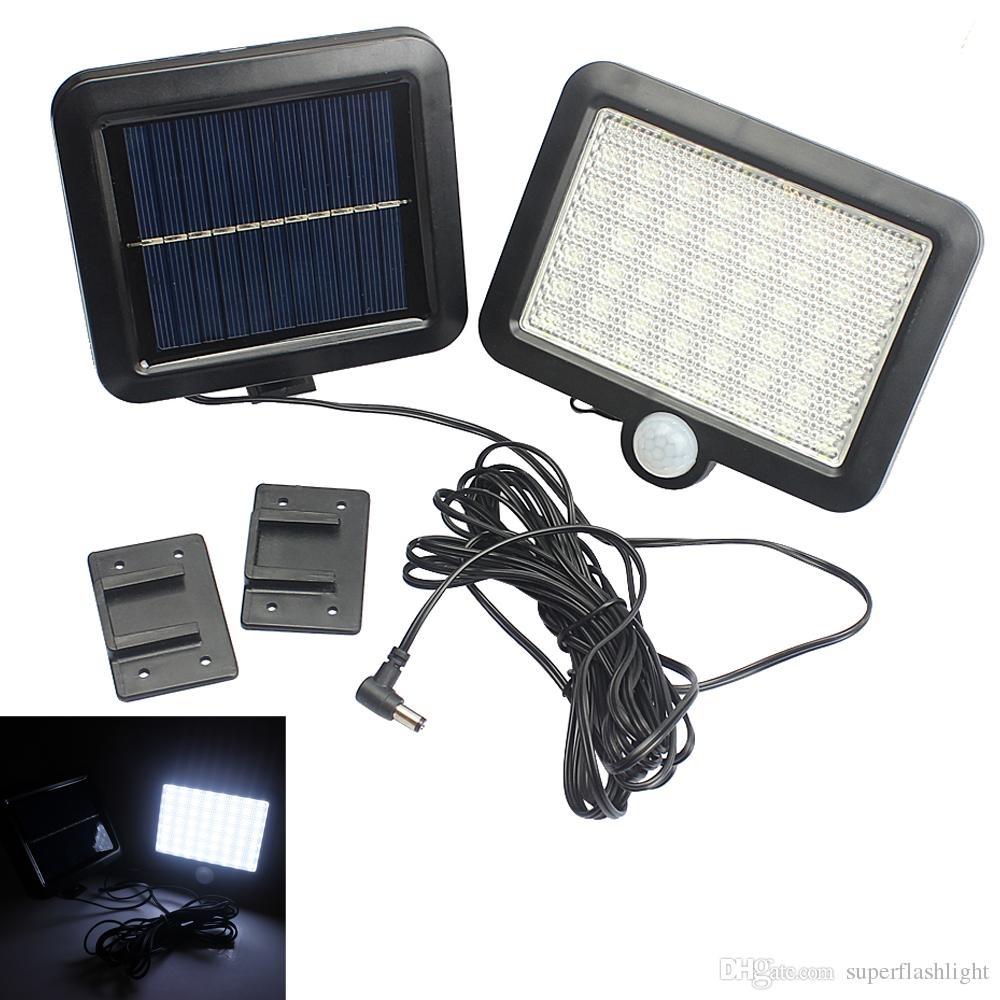 Solar Power Led Garden Lawn Lights Outdoor Pir Human Sensor 56 Led With Regard To Pir Solar Outdoor Wall Lights (#12 of 15)