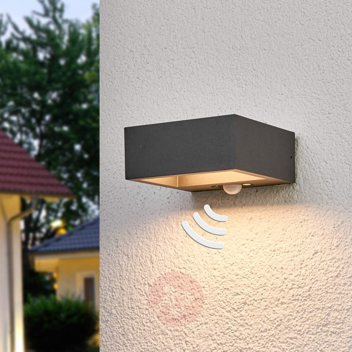 Solar Powered Led Outdoor Wall Light Mahra, Sensor | Lights (View 6 of 15)
