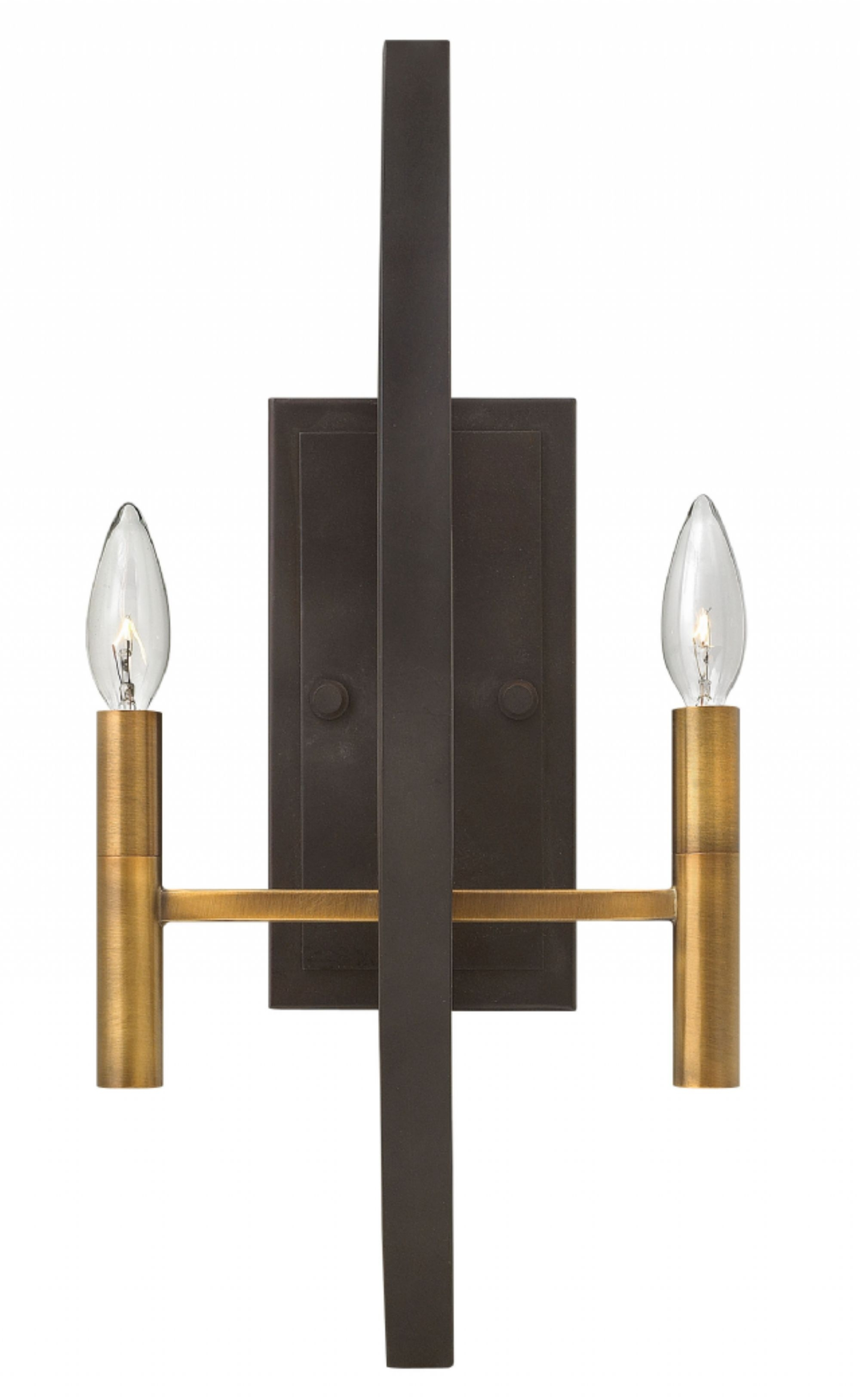 Spanish Bronze Euclid > Interior Wall Mount With Regard To Double Wall Mount Hinkley Lighting (#15 of 15)