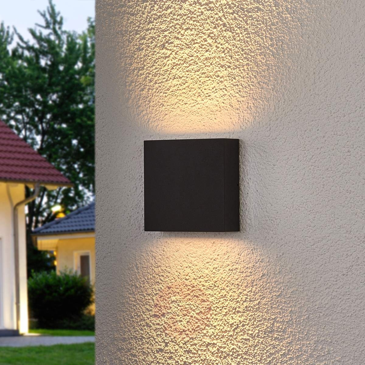 Square Led Outdoor Wall Light Trixy, Graphite Grey | Lights (#15 of 15)