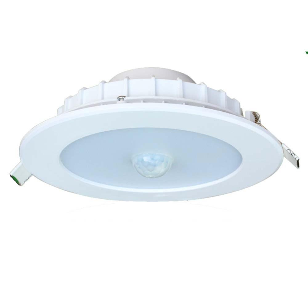 Square White Finish Motion Sensor Outdoor Ceiling Light • Outdoor With Regard To Outdoor Ceiling Motion Sensor Lights (#15 of 15)