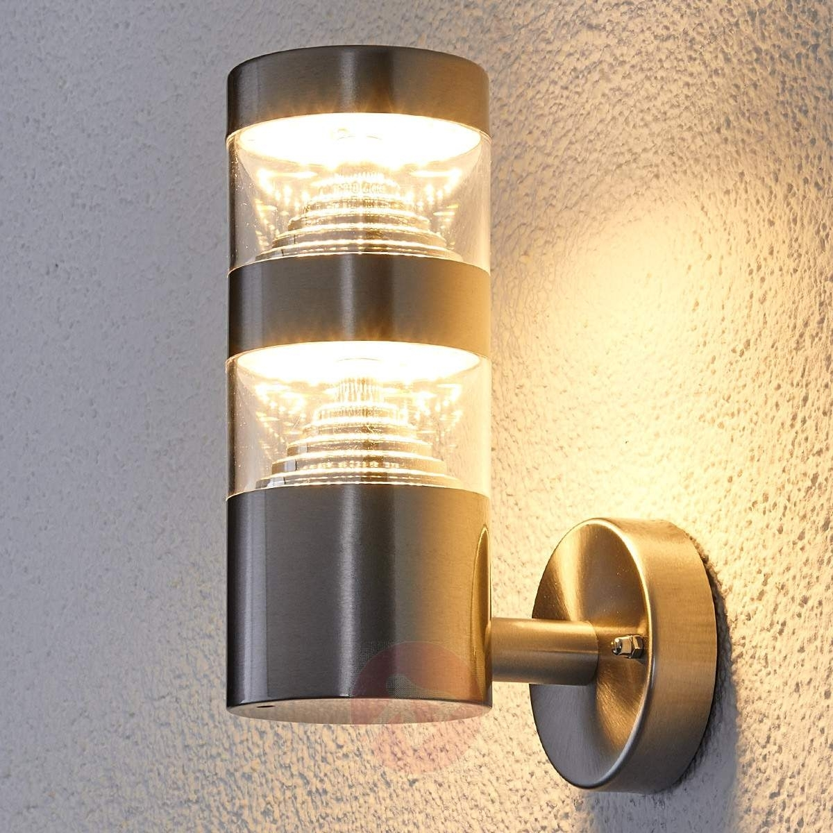 Stainless Steel Led Outdoor Wall Light Lanea   Lights.co (#15 of 15)