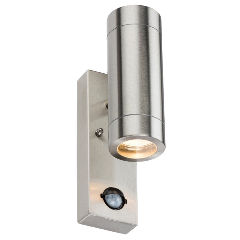 Stainless Steel Up/down Outdoor Wall Light With Pir Motion Sensor In Outdoor Led Wall Lights With Sensor (#15 of 15)