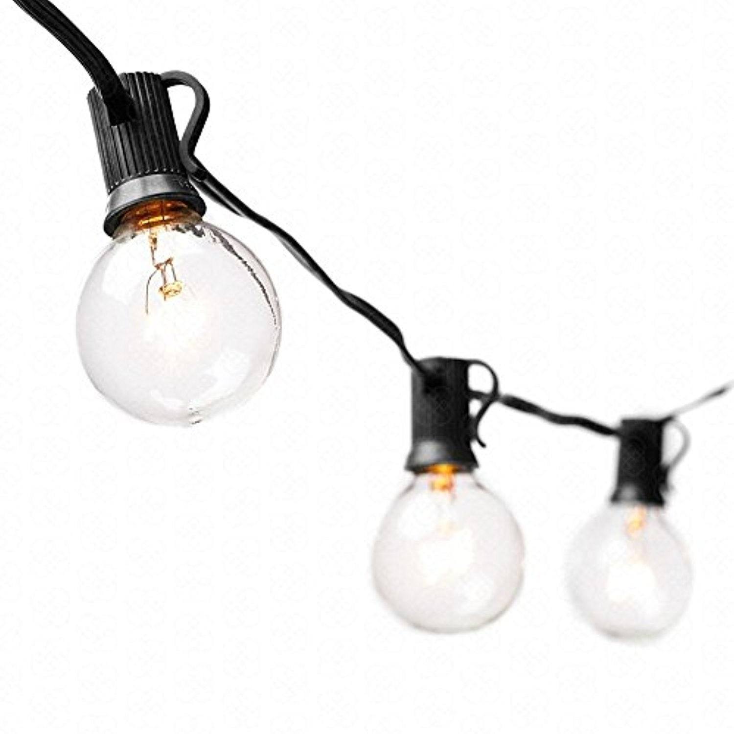 String Light Bulbs Vintage Backyard Patio Lights Outdoor 25 Feed G40 With Regard To Outdoor Hanging String Light Bulbs (#13 of 15)