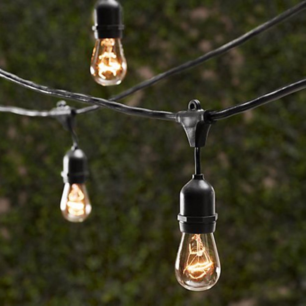String Light Company Vintage Metro Outdoor String Lights – Outdoor Intended For Vintage Outdoor Hanging Lights (#8 of 15)