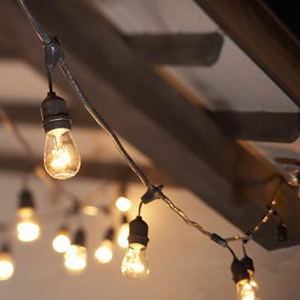 Popular Photo of Outdoor Hanging String Light Bulbs