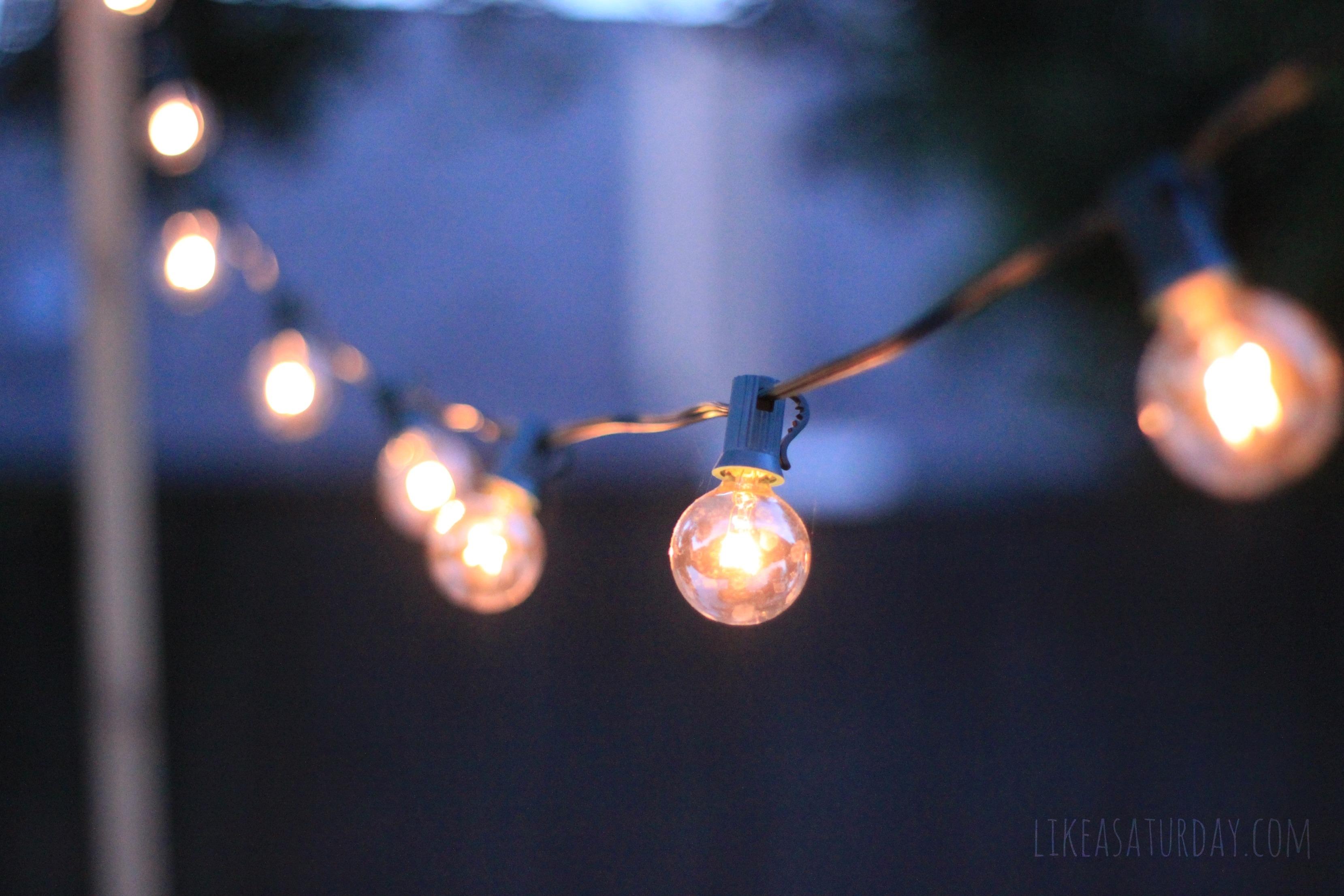 Stringing Lights Outside For Home Depot Outdoor Lights String Patio Regarding Outdoor Hanging String Light Bulbs (#15 of 15)