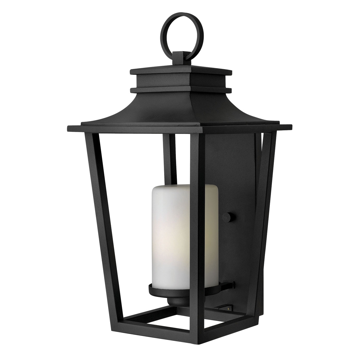 Sullivan Black Large Outdoor Wall Light Hinkley Wall Mounted Outdoor For Large Outdoor Wall Lighting (#14 of 15)