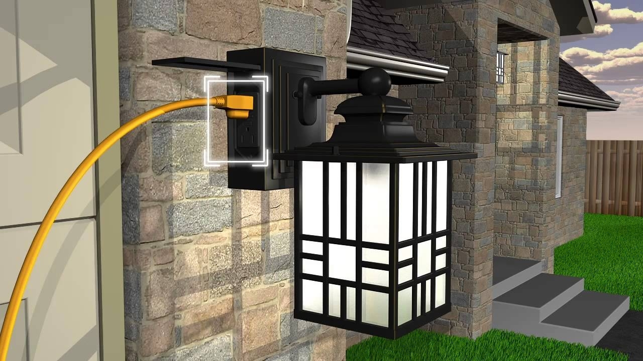 15 Inspirations Of Outdoor Wall Lighting With Outlet