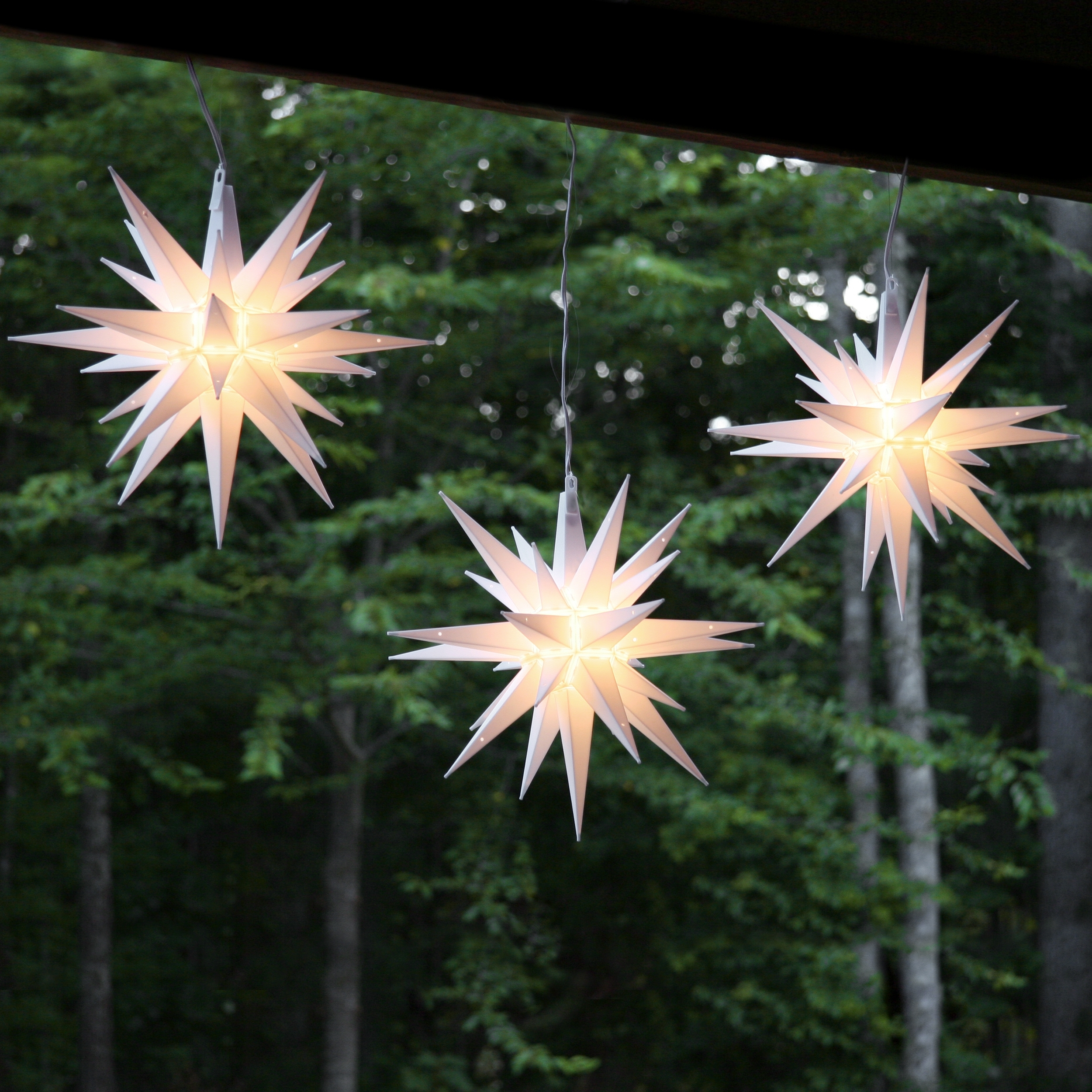 Sweet Ideas Hanging Star Christmas Lights Outdoor Outside Chritsmas In Outdoor Hanging Star Lights (#14 of 15)