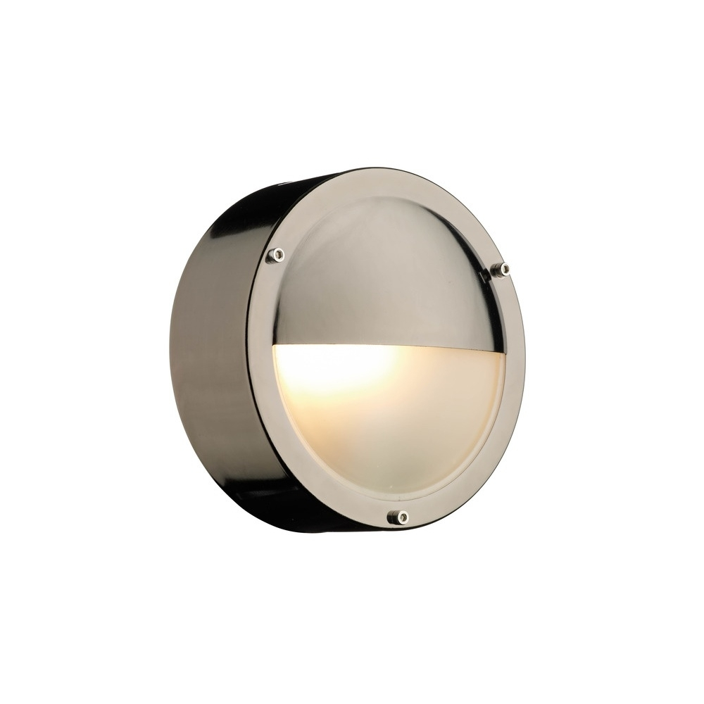 Inspiration about Tah5067 Tahoe Round Eyelid Outdoor Wall Light In Black Chrome With Round Outdoor Wall Lights (#4 of 15)