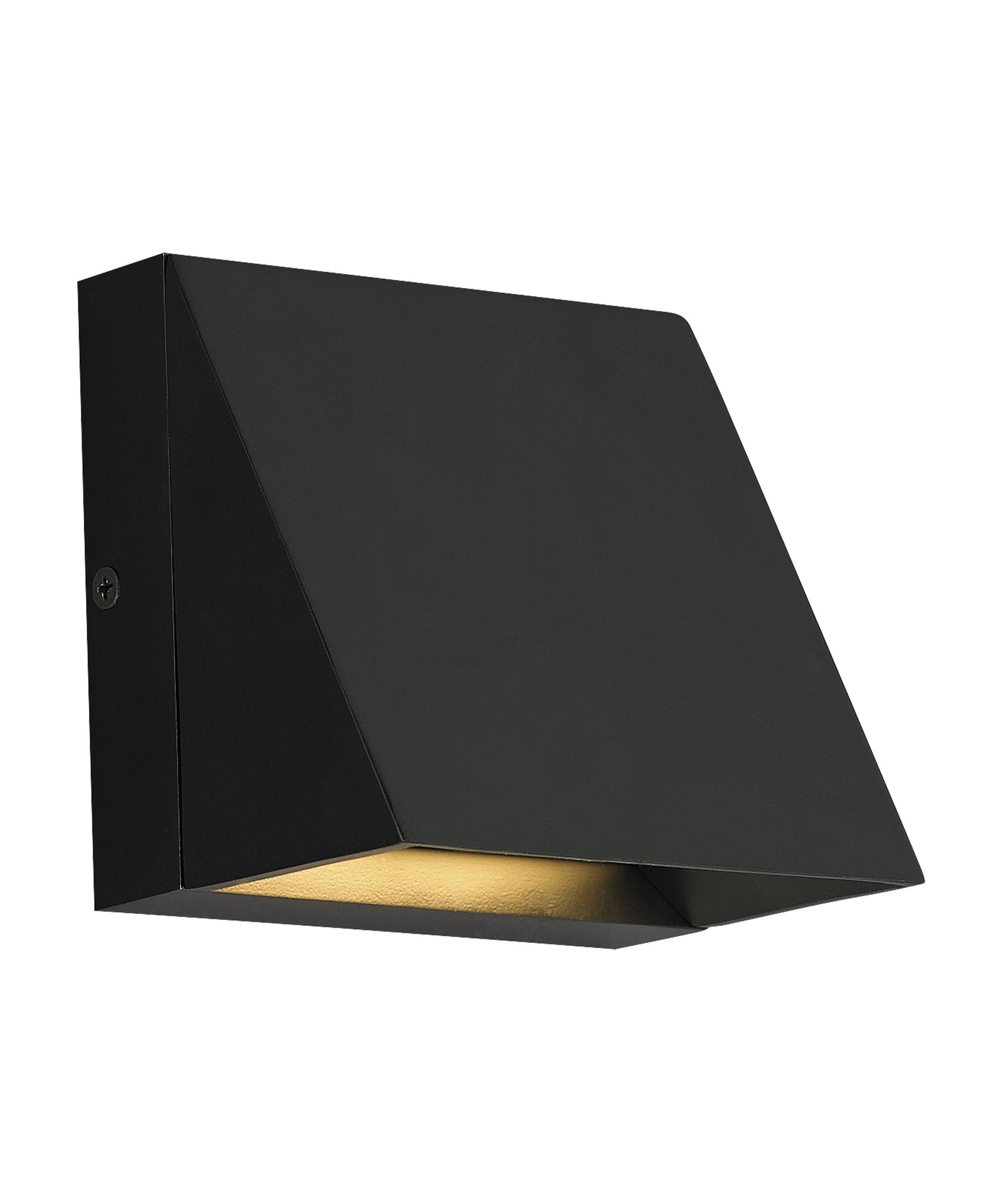 Tech Lighting 700Wspits Pitch 5 Inch Wide 1 Light Outdoor Wall Light Regarding Black Outdoor Led Wall Lights (#15 of 15)