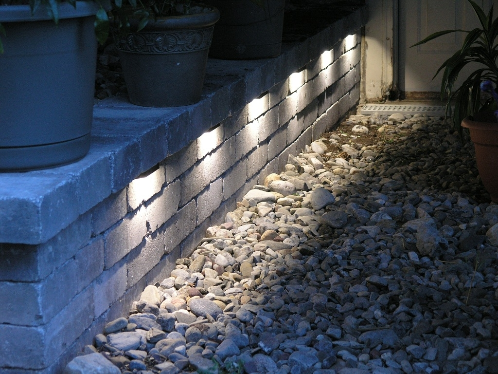 Terrace Garden Wonderful Wall Light Idea Using Diy Plus Lighting With Regard To Outdoor Stone Wall Lighting (View 2 of 15)