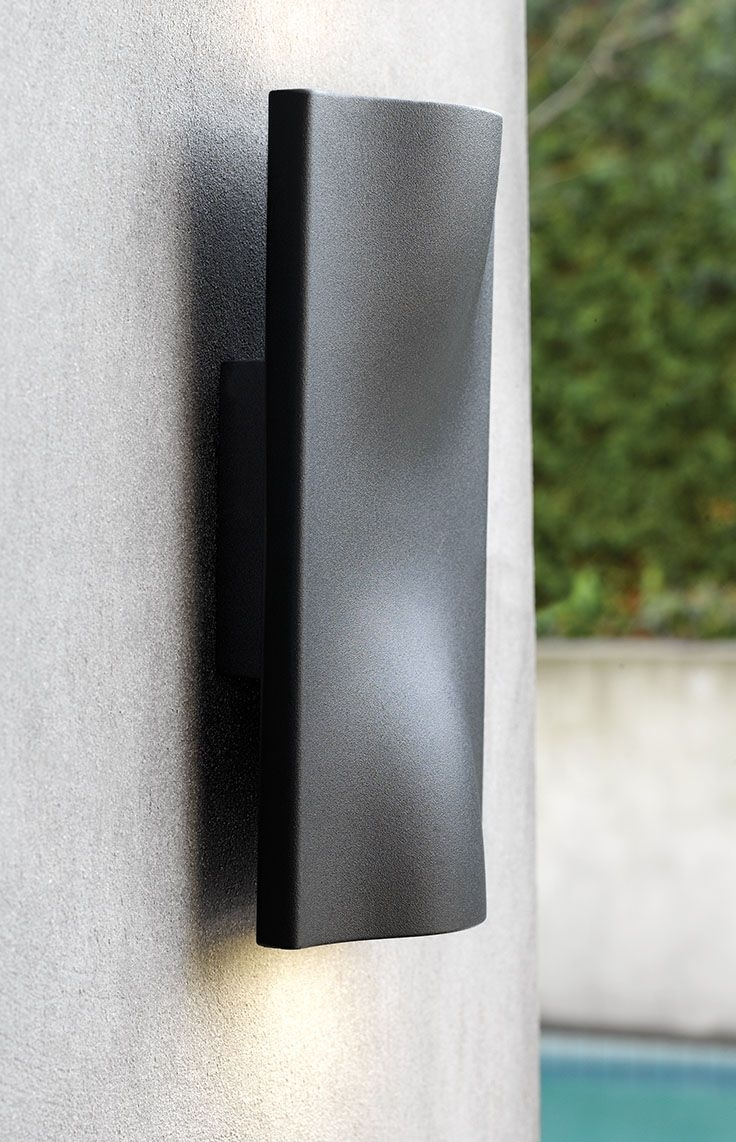 The Beacon Lighting Ledlux Macedon Exterior Up/down Charcoal Lm6 Intended For Beacon Lighting Outdoor Wall Lights (#12 of 15)