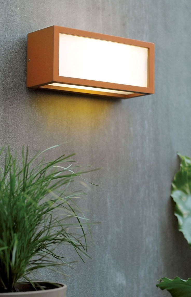 The Beacon Lighting Tucson 1 Light Plain Exterior Wall Bracket In For Beacon Lighting Outdoor Wall Lights (#14 of 15)