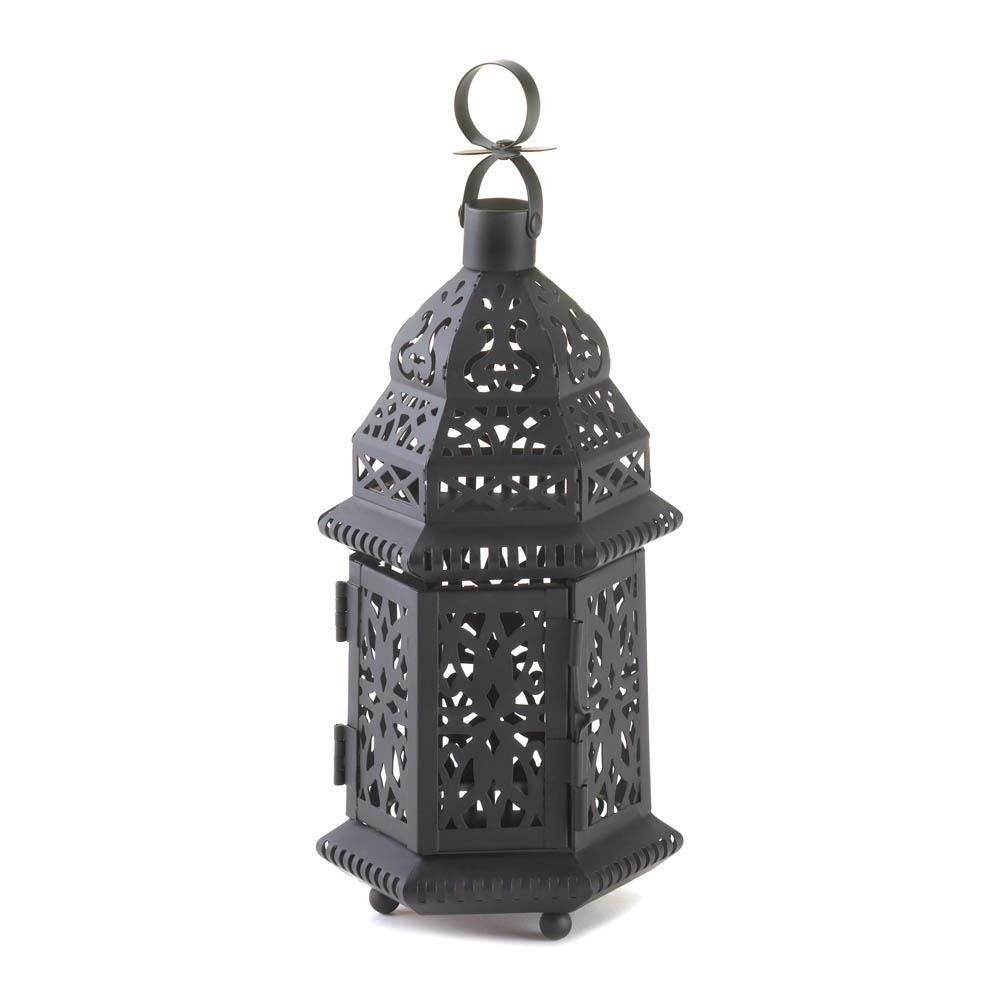 The Best Metal Moroccan Hanging Decorative Floor Patio Lantern Of Throughout Outdoor Hanging Patio Lanterns (View 7 of 15)