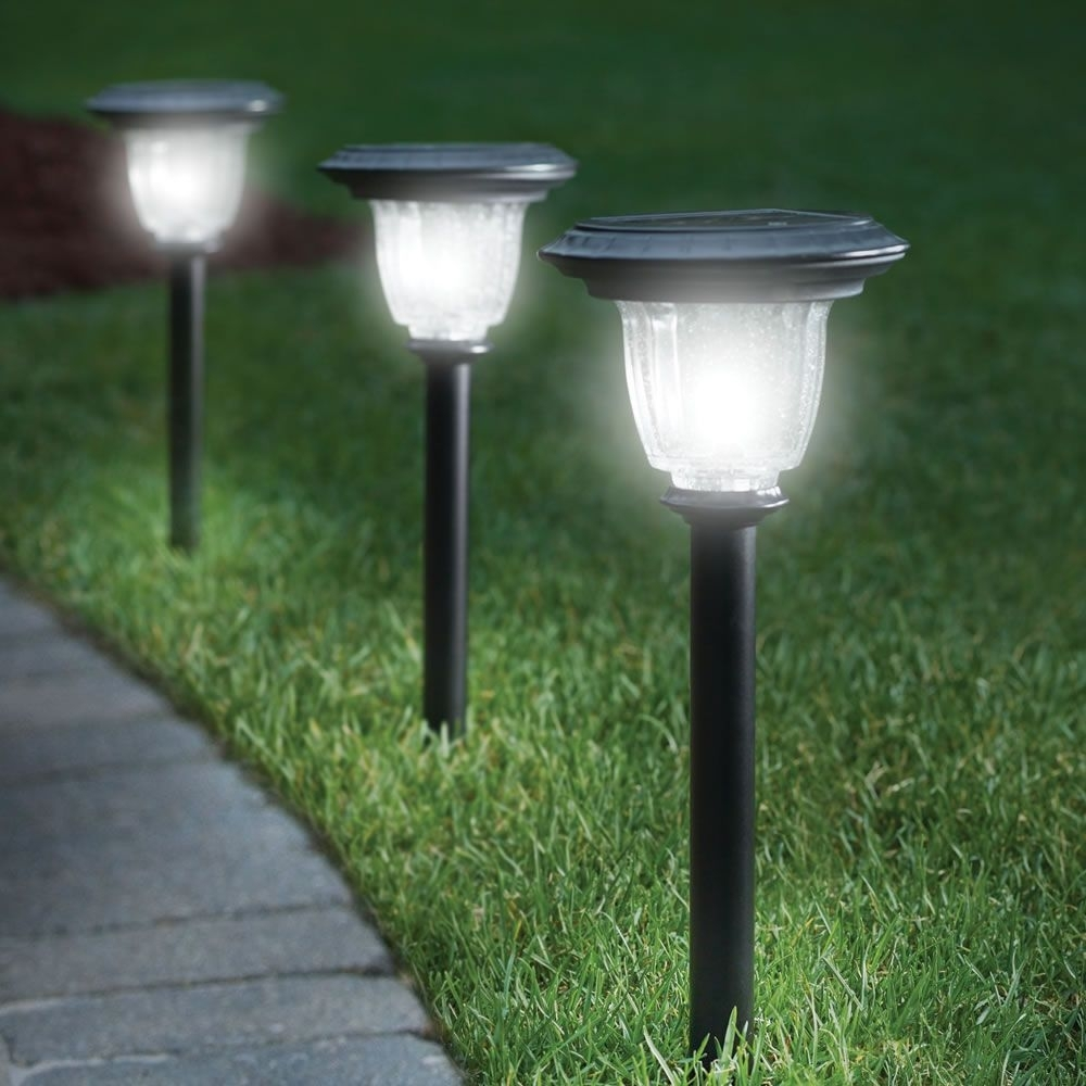 Inspiration about The Best Solar Walkway Light – Hammacher Schlemmer | For The For Contemporary Solar Driveway Lights At Target (#5 of 15)